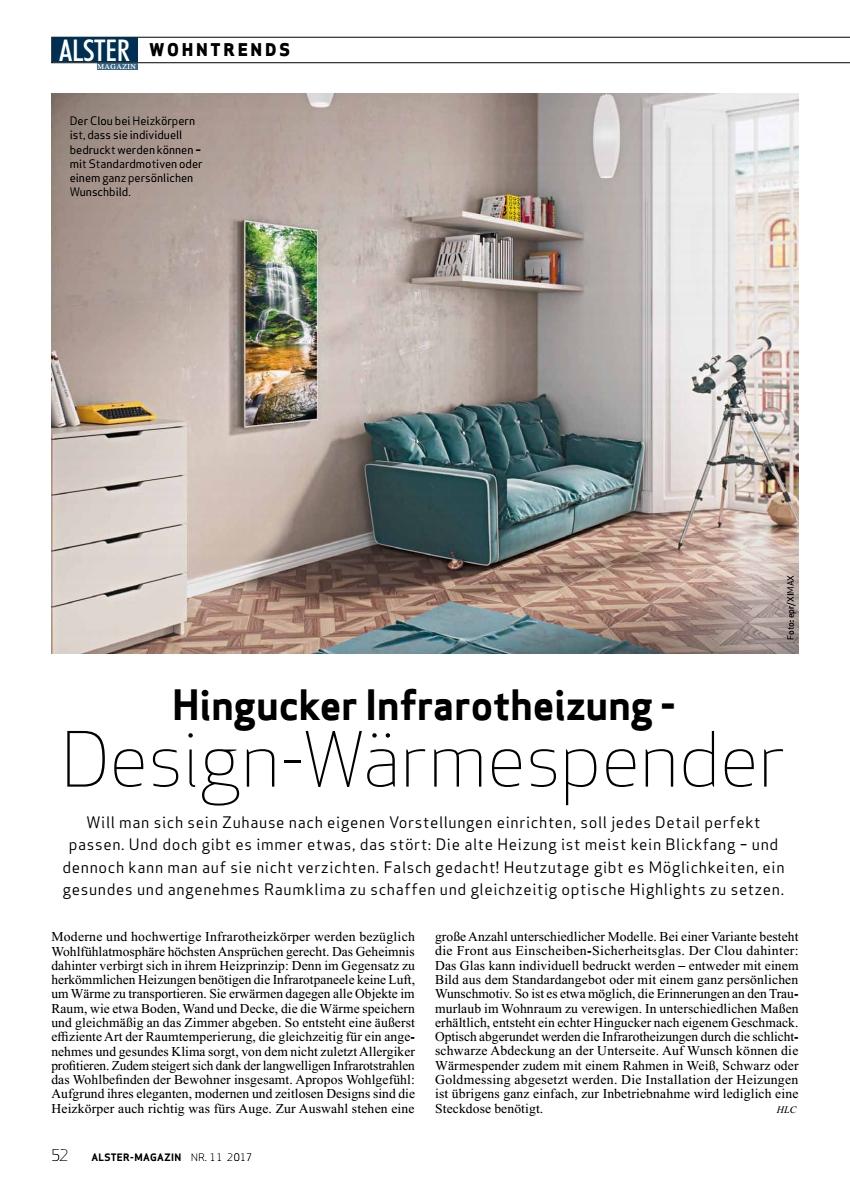 Hingucker Infrarotheizung Design-Wärmespender